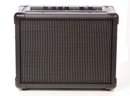 Guitar amplifier isolated on white background photo