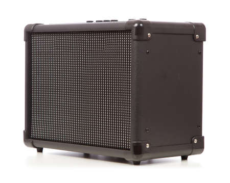 guitar amplifier: Guitar amplifier isolated on white background Stock Photo