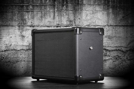 guitar amplifier: Guitar amplifier on dark background
