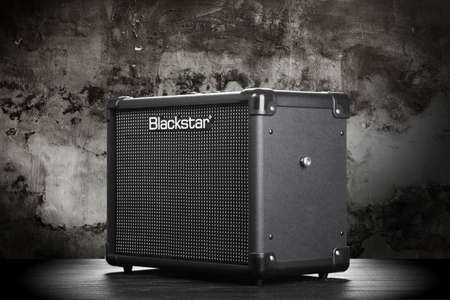 hard core: WROCLAW,POLAND - JUL 29, 2015: Blackstar Core ID 10 guitar amplifier. Blackstar Amplification is a UK-based manufacturer of guitar amplifiers and effects.