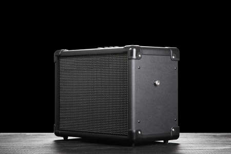 amplifier: Guitar amplifier on dark background