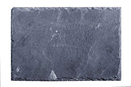 tabule: Hrubý texturou břidlice deska na bílém pozadí Reklamní fotografie