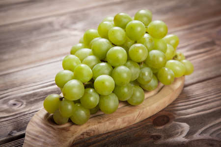domestic: Delicious grapes on a domestic kitchen table