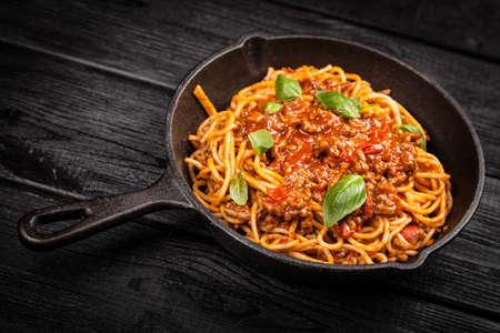 spaghetti sauce: Spaghetti bolognese - traditional italian pasta