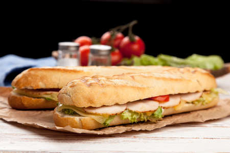 panini: Panini grilled sandwich with ham and cheese