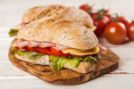 submarino: Delicioso sándwich de ciabatta Foto de archivo