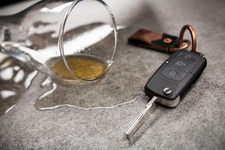 Drunk driving concept Stockfoto