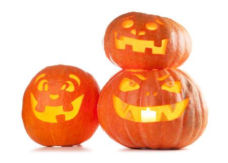 tallado en madera: Halloween Jack O Lantern calabazas