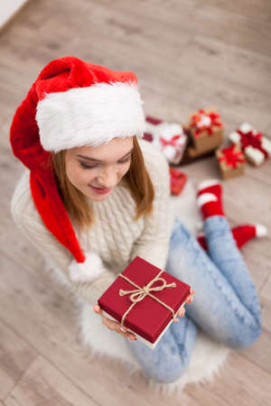 Teenage Girl With Christmas Presents Stock Photo, Picture And ...
