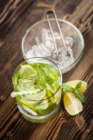 Mojito cocktail on dark background