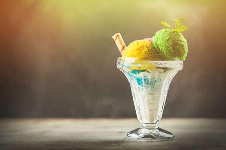 Ice cream vase Stock Photo