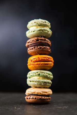 Assortment of macaron cookies 免版税图像