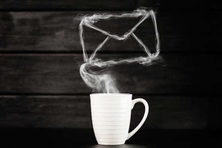 White coffee mug Фото со стока