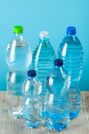 Plastic water bottle Stock Photo