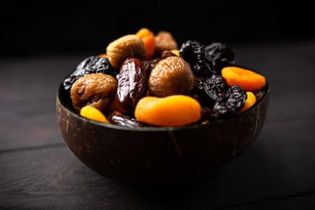 Eine Mischung aus getrockneten Früchten