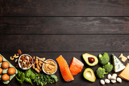 Ketogenic diet concept - low carb healthy food 版權商用圖片