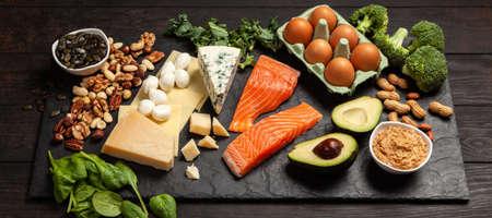 Keto diet food ingredients 写真素材