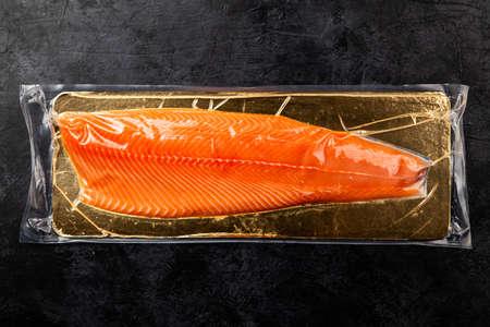 Salmon fish fillet Imagens