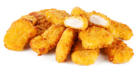 Crispy chicken nuggets Stock Photo
