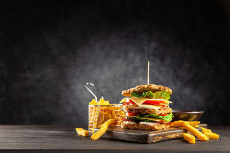 Tall club sandwich Stock Photo