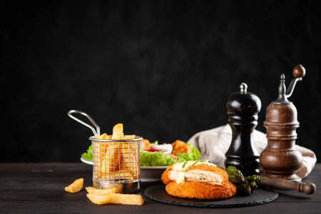 Cordon bleu and chicken nuggets