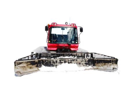 big snowplow on the white photo