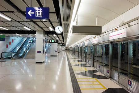 station m�tro: Un vide dans la station de m�tro de Hong Kong. Banque d'images