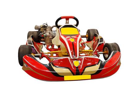 go kart: red kart isolated in white Stock Photo