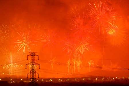 many fireworks on night sky Stock Photo - 4683387