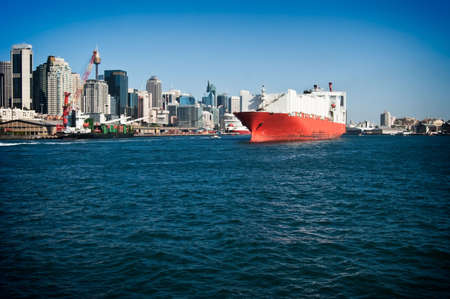 a big ship: A big ship is sailing in  sydney, australia