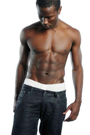 African American Man met borst