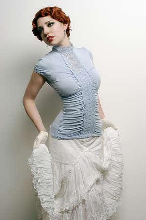 flapper: Moda mujer con mirada de �poca  Foto de archivo