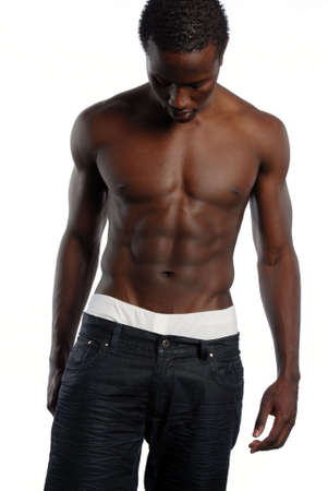 African American Male with  chest 版權商用圖片 - 3137566