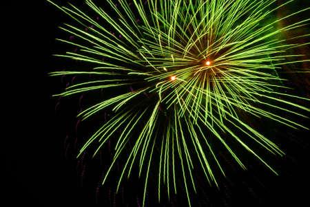 Green Fireworks Banco de Imagens