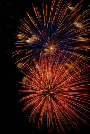 Fireworks burst Banco de Imagens