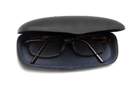 Eyeglasses and Case Isolated on white