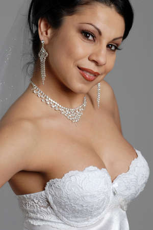 Portrait of a beautiful bride Banco de Imagens - 6322182