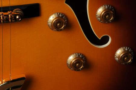 Beautiful closeup of electric guitar Banco de Imagens
