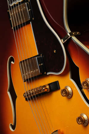 Beautiful closeup of electric guitar Banco de Imagens