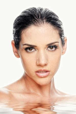 Sexy beautiful woman in spa Banco de Imagens