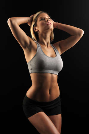 Young woman in workout gear  Banco de Imagens