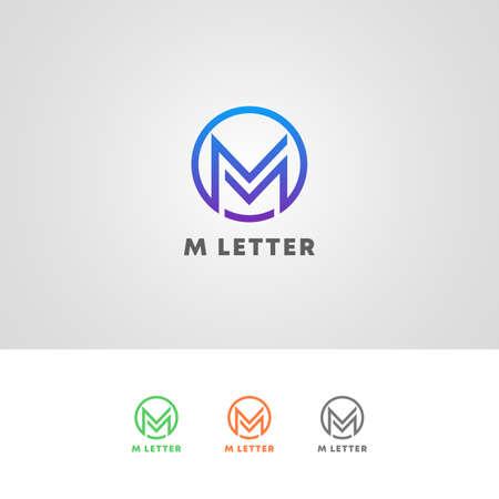 Professional M Letter Logo Design