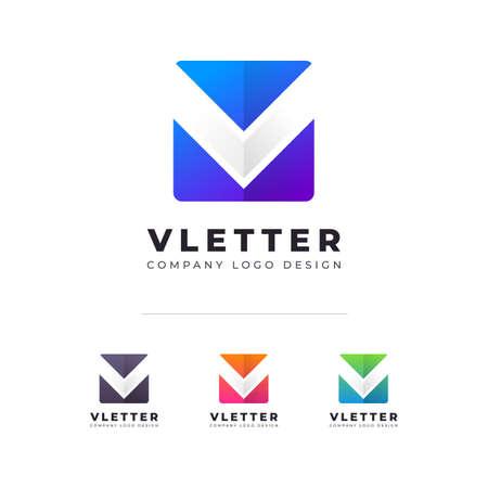Professional V Letter Logo  Design