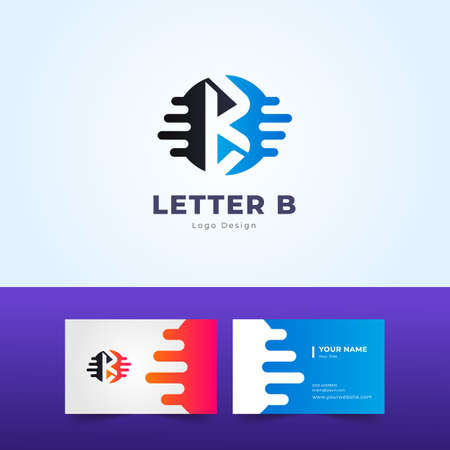Professional B Letter Logo and Business Card Design