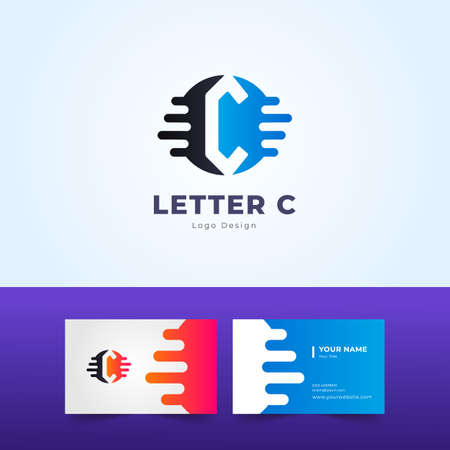 Professional C Letter Logo and Business Card Design