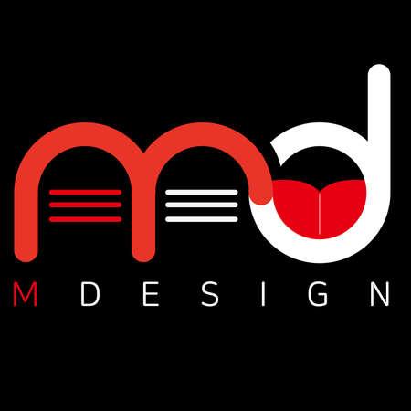 illustration of Logo md design