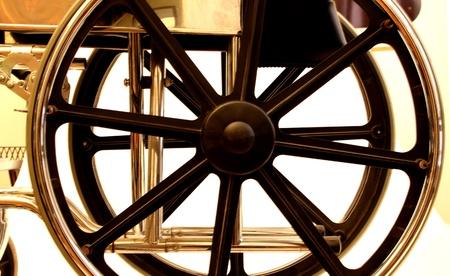 closeup of a wheel chair photo