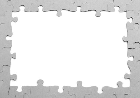 puzzle frame on a white background