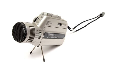 old style voice recorder over white Banco de Imagens