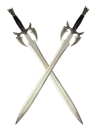 espadas medievales: espadas medievales Foto de archivo
